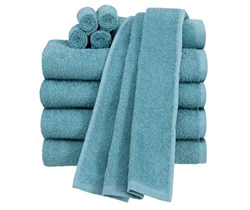 Cameo Towel - Mainstay Value 10-Piece Towel Set, Blue Cameo