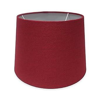 Adesso Paris 10 Inch Textured Fabric Drum Lamp Shade In Red