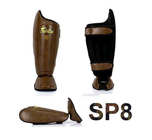 Fairtex SP8 New Model Brown Shin Guards Competition Thai Boxing Shin Pads Guards Muay Thai Kick Boxing MMA Protective