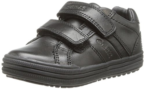 Geox JR Elvis Uniform Shoe (Toddler/Little Kid/Big Kid),Black,26 EU (9 M US Toddler) - Geox Toddler Shoes