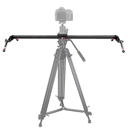 Kamisafe 32'/80cm DSLR Camera Track Dolly Slider Aluminum Video Stabilization Rail System with 11lbs/5kg Load Capacity for Canon Nikon Sony SLR Camcorder Video Movie Filming Making Photography
