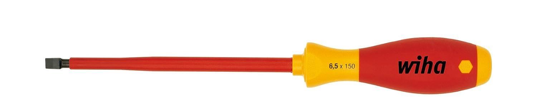31863 ergonomischer Griff f/ür kraftvolles Drehen 4,5 mm x 200 mm  VDE gepr/üft Wiha Schraubendreher SoftFinish/® electric Schlitz Allrounder f/ür Elektriker st/ückgepr/üft