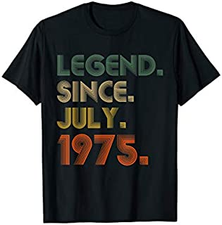 Legend Since July 1975  44th Birthday Gifts 44 Yrs Old T-shirt | Size S - 5XL