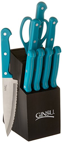 Ginsu Essential Series 10 Piece Cutlery Set in Black Block,