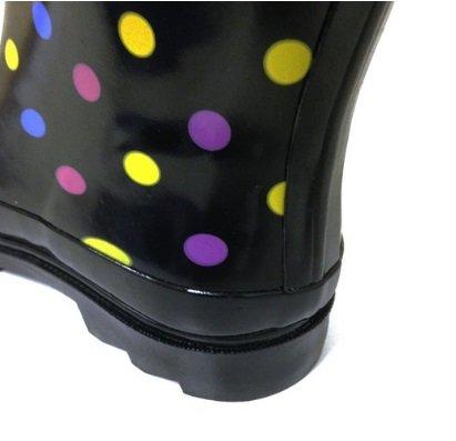 Sunville Marken-Frauen-Gummiregen-Aufladungen Mehrfarbige Tupfen