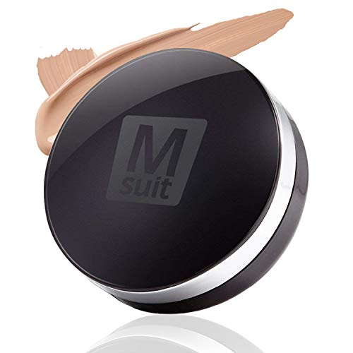 LOVLUV M Suit Cushion Foundation Makeup for Men. K Beauty Cream Foundation with SPF 50, Natural and Oil Free Coverage for Flawless Skin [0.74 Oz]
