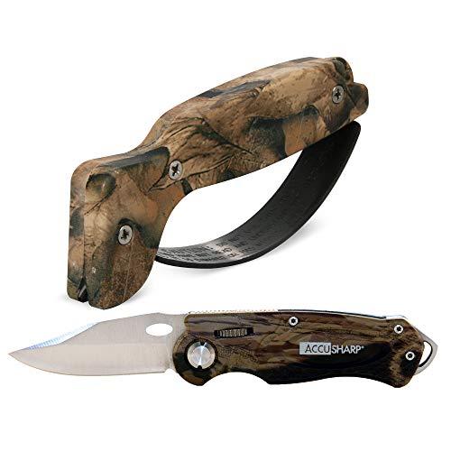 AccuSharp 4004694 Sharpener & Sport Folding Knife Combo - Camouflage Accusharp Camouflage Knife Sharpener