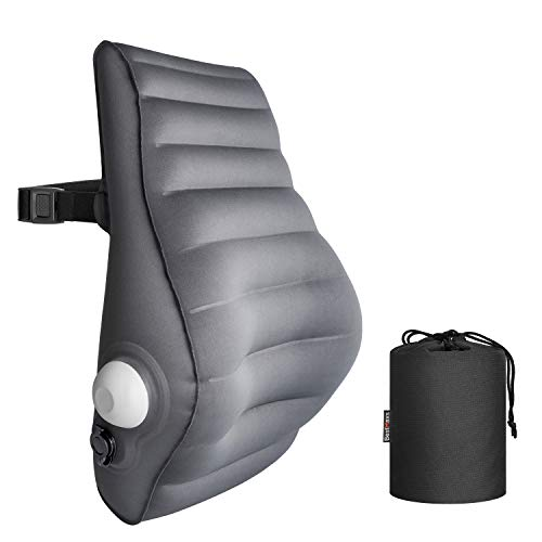Lumbar Pillow Back Cushion Inflatable Lumbar Support for Office Chair Car Seat Travel and Home Ergonomic Design Lower Back Pain Relief
