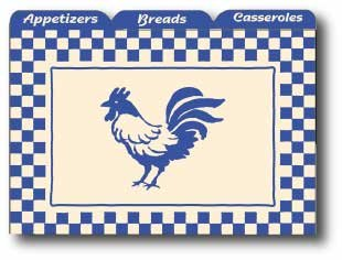 Labeleze Recipe Card Dividers 3 x 5 - Rooster (Rooster Box Recipe)