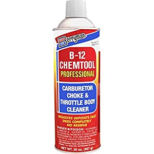 Berryman 0120 B-12 Chemtool Carburetor, Choke and Throttle Body Cleaner, Not VOC compliant in some states, 20 oz.
