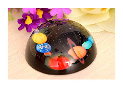 H&D Crystal Solar System Dome Paperweight Table Centerpiece 80mm