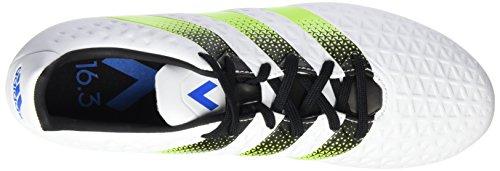 adidas Ace 16.3 FG/AG, Botas de Fútbol para Hombre Blanco (Ftwr White/Semi Solar Slime/Shock Blue S16Ftwr White/Semi Solar Slime/Shock Blue S16)