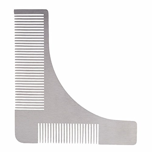 Stainless Steel Beard Shaping Tool Beard Bro Sex Man Gentleman Beard Trim Template Hair Cut modelling tools