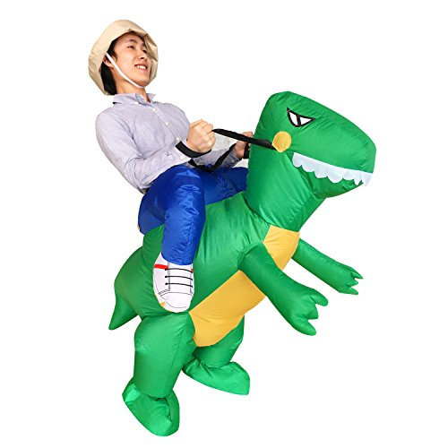 Inflatable Ride Dinosaur T-Rex Adult Halloween Party Dress Suit Fancy Costume