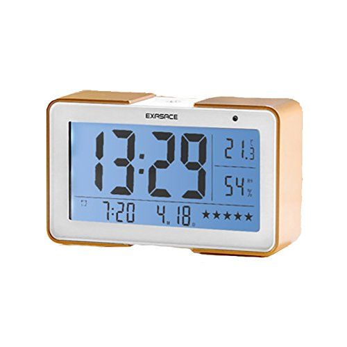 - RUIX Thermo-Hygrometer Home Indoor Children's Alarm Clock,Gold