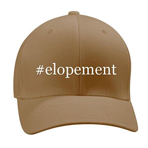 #elopement - A Nice Hashtag Men's Adult Baseball Hat Cap, Khaki, Small/Medium