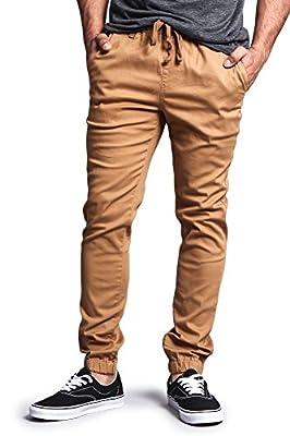G-Style USA Mens Twill Skinny Jogger Pants