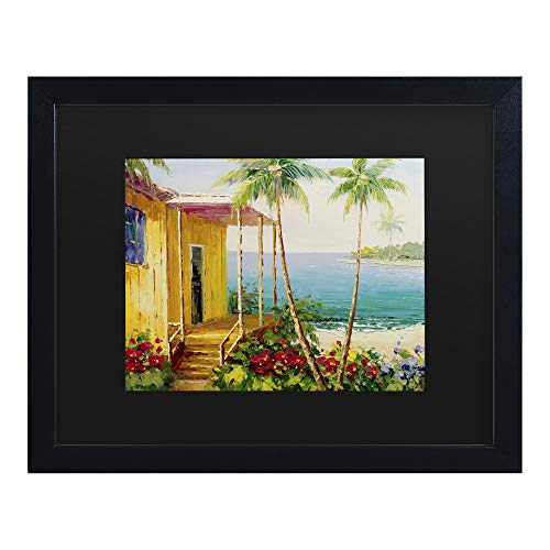 Trademark Fine Art Key West Villa by Masters Fine Art, Matte, Black Frame 11x14, Black, Black