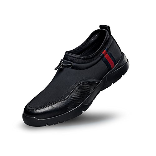ZRO Men's Slip On Casual Fashion Sneakers Breathable Athletic Shoes BLACK US 8.5