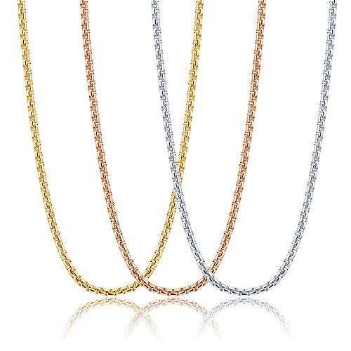 LOYALLOOK Eyeglasses Holder Strap Stainless Steel Glasses Holder Lanyard Chain Cord Necklace Eyewear Retainer for Men Women 2MM