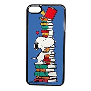 Grouden R Create and Design Phone Case, Snoopy Cell Phone Case for iPod touch 6 Black + Tempered Glass Screen Protector (Free) LPC-0645243