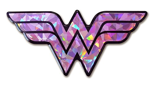 DC+Comics Products : Wonder Woman Pink Reflective 3D Decal Domed Auto Sticker DC Comics Emblem