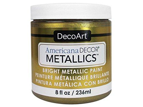 (DecoArt Ameri Deco MTLC VintBrass Americana Decor Metallics 8oz VintagBrass)
