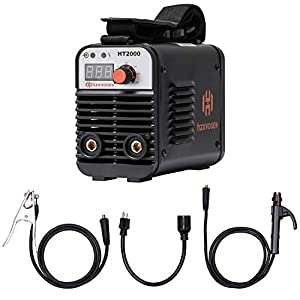 HZXVOGEN 110/220V Welder Dual Volt Arc Stick Welding Machine 60% Duty Cycle Mini Portable Inverter Welder with Electrode Holder Earth Clamp 30A Cable Adapter (Model: HT2000) from HZXVOGEN