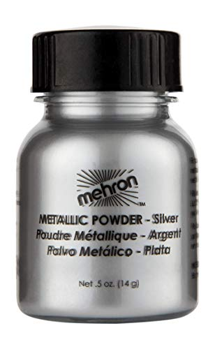 Mehron Makeup Metallic Powder (.5 oz) (Silver)