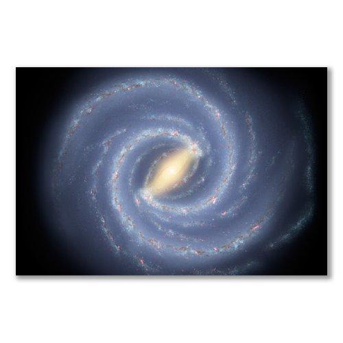 Poster Kunstdruck: MILKY WAY GALAXY spiralförmige Struktur Künstler Eindruck zwei großen Armen SCUTUM Liege-Ergometer PERSEUS, A2 maxi, 40,7 x 61 cm, glänzendes Fotopapier