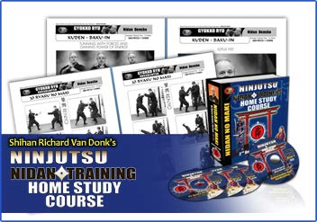 Ninjutsu Black Belt Courses NIDAN 2ND Degree Bujinkan Budo Taijutsu - Richard Van Donk