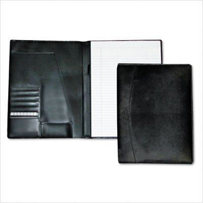 Buxton Products - Buxton - Men's Classic Pad Folio/Writing Pad, 8 1/2 x 11, Black, Each - Sold As 1 Each - Great for staying organized throughout the day. - Holds files and notepads. - by Buxton (Image #1)