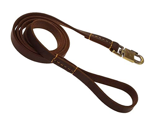 teck Genuine Leather Leash Leashes