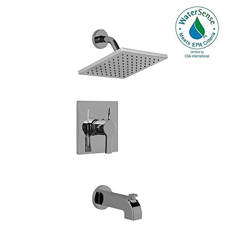Modern Single-Handle 1-Spray Tub and Shower Faucet in Chrome (Pegasus Roman Tub Faucet Parts compare prices)