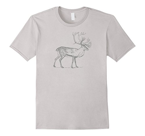 Mens Antlers Caribou T-Shirt 3XL - Caribou Antlers
