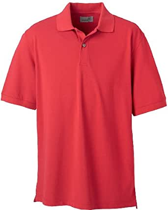 Ashworth Men's Combed Cotton Pique Polo Sport Shirt 3028C Carmine Red Small