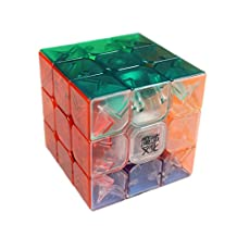GoodPlay Moyu Aolong V2 Speed Cube 3x3 Enhanced Edition Smooth Magic Cube Transparent(+One Cube Bag)