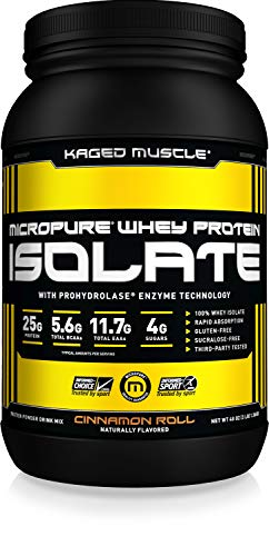 Cheap KAGED MUSCLE – MicroPure Whey Protein Isolate, Cinnamon Roll, 3lbs