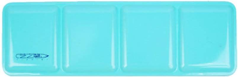 Healifty caja de acuarela vacía 24 colores caja de metal caja de almacenamiento portátil pintura al óleo suministros de arte (caja de hierro verde)