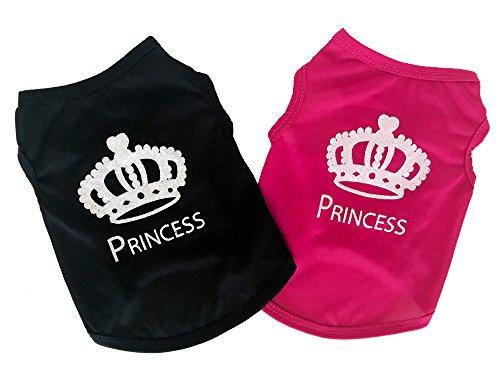 반짝반짝의 크라운(왕관)가 귀여운 프린세스 탱크 탑 전2 색4사이즈 【jym wanpson(짐・원《푸손》)】 탱크 탑 T셔츠 귀여운 멋쟁이 메쉬 시원하 크라운 왕관 프린세스 반짝반짝 봄과 여름용 개 애완동물복 소형견 중형견 (XS,핑크)