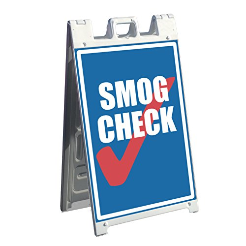 Signicade A-frame Business Sign and 2 Pre-Printed Graphics - 37. Smog Check Sign - Images for the front and back of Sidewalk Signage by wall26
