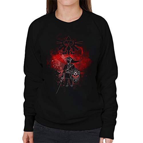 Noir Legend Sweat Dark Femmes Pour shirt Link Zelda Of qtz8t