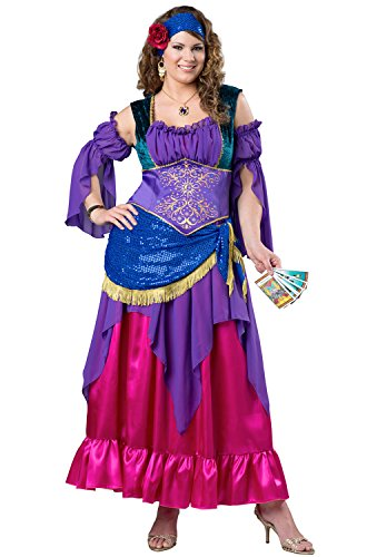 Fun World Women's Plus-Size Gypsy Treasure Costume, Multi -