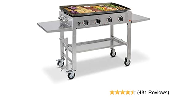 New in Box Blackstone 1560 Stainless Steel 4 Burner Griddle Gas Cooking Station