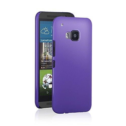 HTC One M9 Case, NOOT PRODUCTS® Basics Ultra Slim Fit [Perfect Fit] Premium Matte Finish [Lifetime Warranty] Minimalist Hard Case for HTC One M9 (Hima) 2015 (Purple - Ultra Slim)