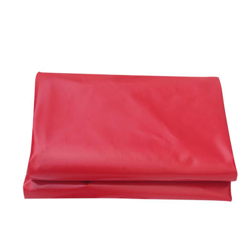 Rot PVC Beschichtet Tuch regendicht Dach Tuch Feiern Baldachin Wasserdicht Leinwand Abdeckung Poncho Sonnencreme