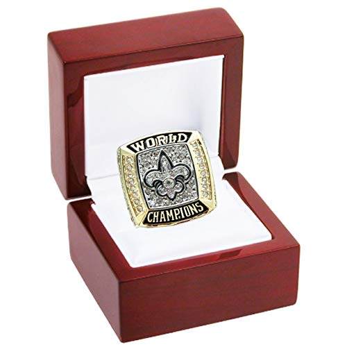 LEMOISTARS 2009 New Orleans Saints Super Bowl XLIV Champion Ring-Gold