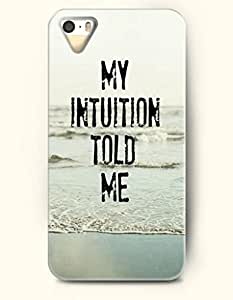 iPhone 5 5S Hard Case (iPhone 5C Excluded) **NEW** Case with Design My Intuition Told Me- ECO-Friendly Packaging...