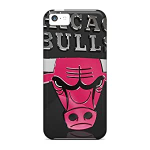 Scratch Protection Hard Phone Cases For Iphone 5c With Allow Personal Design High-definition Chicago Bulls 3d Skin MansourMurray