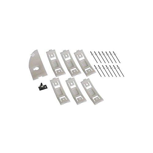 MACs Auto Parts 44-14570 Mustang Rocker Moulding Hardware Kit - 23 Pieces - Left (Molding Rocker Mustang Kit)